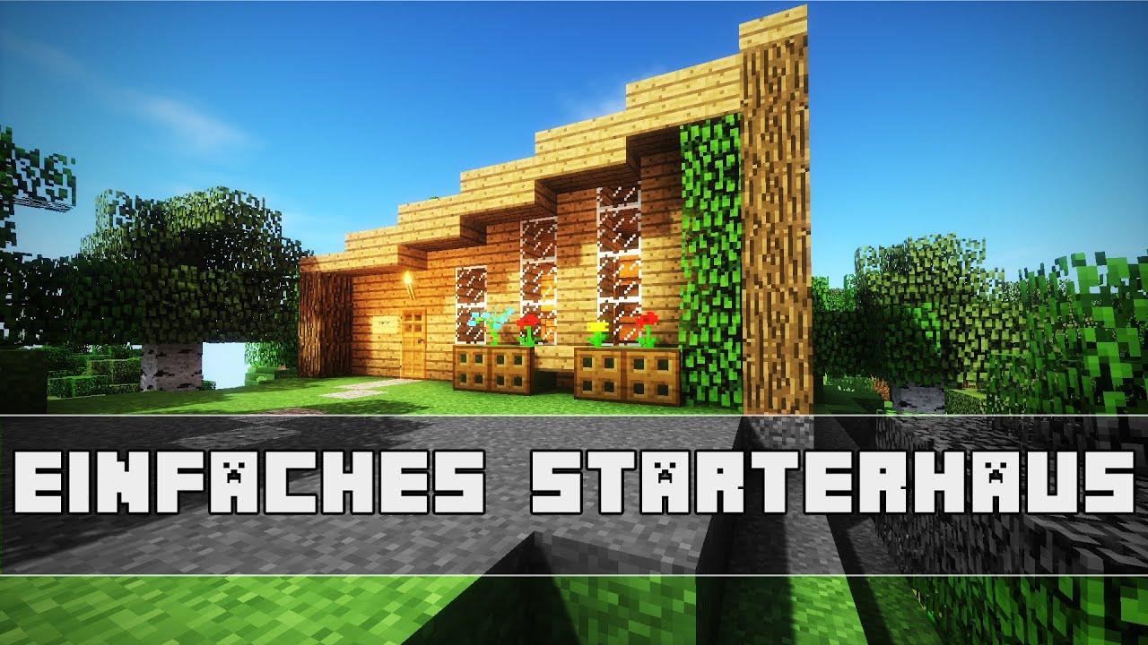 EINFACHES Minecraft Starterhaus Bauen Oakwood Minecraft - Minecraft einfaches mittelalter haus bauen