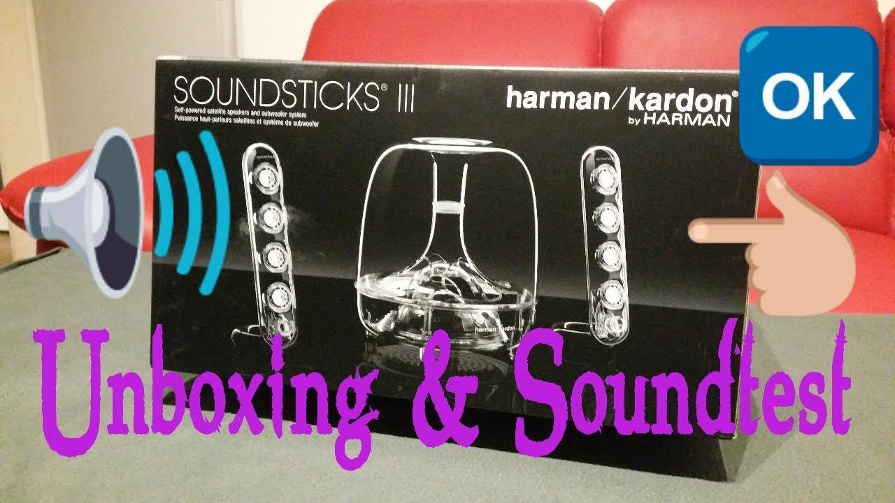 unboxing harman kardon soundstick iii soundtest youtube. Black Bedroom Furniture Sets. Home Design Ideas
