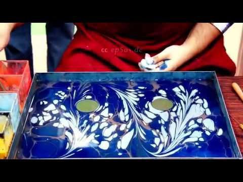 DIY | How to paint on Water for Paper Marbling and Ebru Art