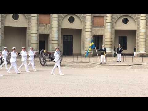 """Eagle Squadron"": 2017 by Royal Swedish Navy at ""Change of Guard"", Royal Palace Stockholm."
