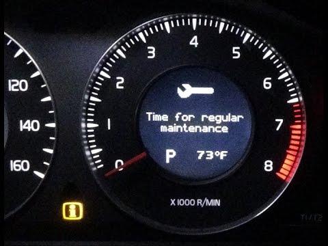 volvo v70 2010 service reset