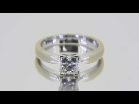 Half carat Princess Cut Diamond Solitaire Engagement Ring