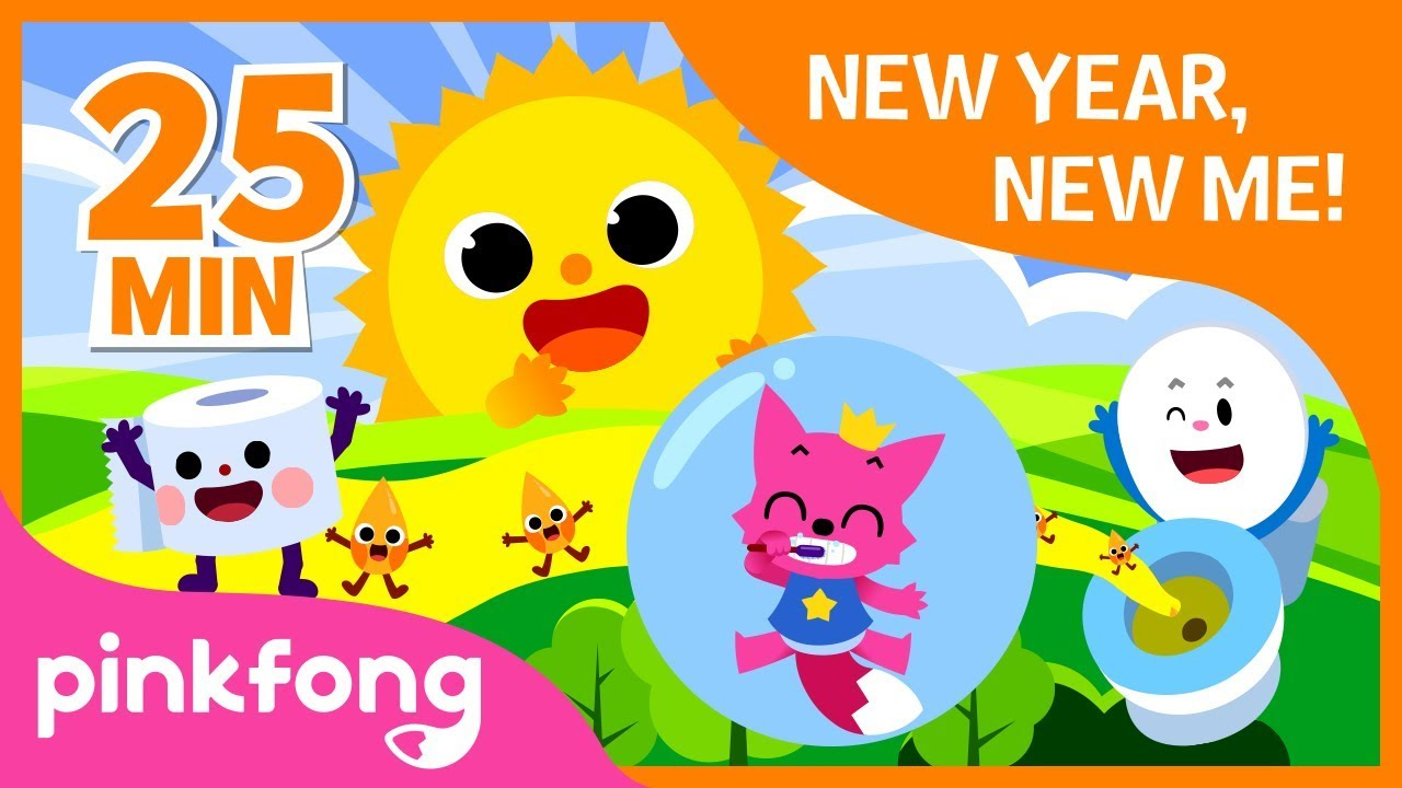 New Year New Me | Healthy Habit Songs | +Compilation | Pinkfong Songs for Children