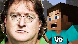 GABE NEWELL PLAYS MINECRAFT PISSING PEOPLE OFF (Trolling)