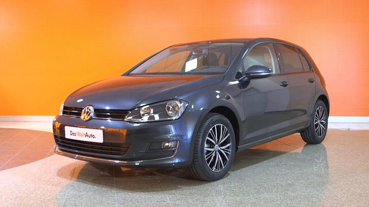 volkswagen golf occasion 1 2 tsi 110 ch bluemotion technology allstar gris carbone youtube. Black Bedroom Furniture Sets. Home Design Ideas