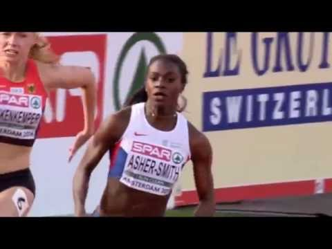 Dina Asher Smith Wins Women's 200m Final at European Athletics Championship Amsterdam 2016