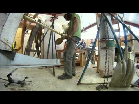 Installing Stern Tube and Prop Shaft at the Northwest School of Wooden Boat Building