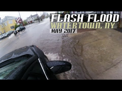 Flash Flooding | Flooded streets | Watertown NY | 5/1/2017