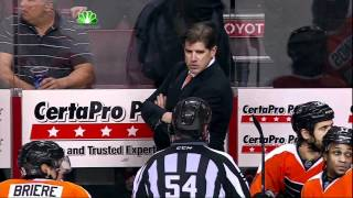 Scrum late in 3rd, ejections. Pittsburgh Penguins vs Philadelphia Flyers 4/18/12 NHL Hockey