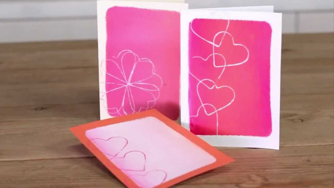 How To Make Homemade Valentine S Day Cards Youtube