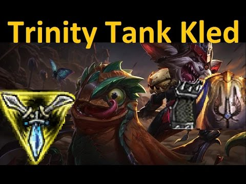 """Kled Trinity Full Tank Build -  """"Tons of Damage"""" + Unkillable Top Lane Gameplay"""