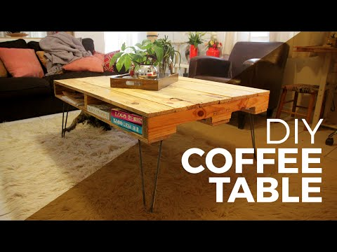 How to make a Coffee Table with a Pallet - DIY