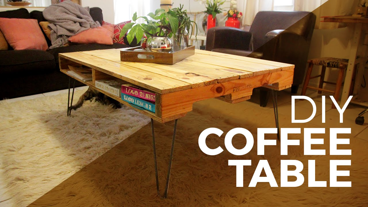How to make a coffee table with a pallet diy youtube geotapseo Image collections
