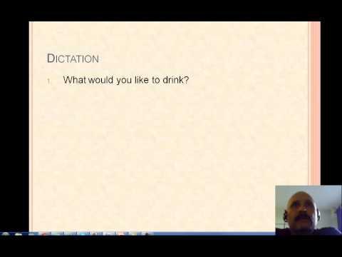 General Lesson 3 part 1 letter dictation
