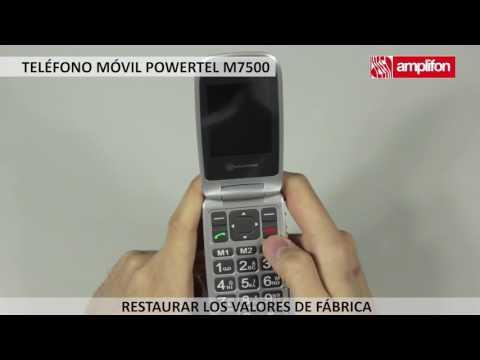 Teléfono movil Amplicomms powertel 7500: restauracion valores de fabrica