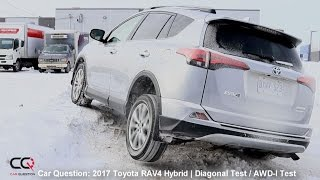AWD-I TEST: 2017 Toyota Rav4 Hybrid | Diagonal Snow  Ice Test | Complete Review: Part 6/8