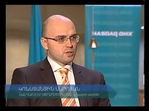 """Capital"" TV program featuring securities market in Armenia"
