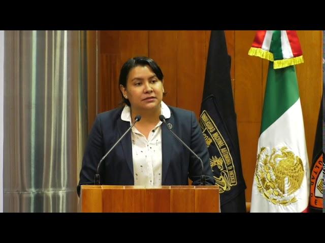 Discurso de la Dra  Perla Gómez en la Inauguración Competencia Universitaria DH Sergio García
