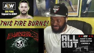 I NEED HIM IN AEW!!   Killswitch Engage - This Fire Burns -REACTION
