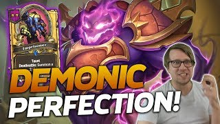 THE PERFECT GAME! IT'S DEMONIC PERFECTION! | Hearthstone Battlegrounds | Savjz