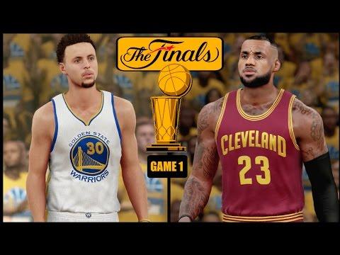 NBA 2K16 (PS4) 2016 NBA Finals Game 1 - Warriors vs Cavs Simulation