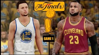 NBA 2K16 (PS4) 2016 NBA Finals Game 1 - Warriors vs Cavs Simulation