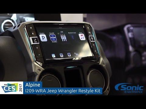 "Alpine I209-WRA 9"" Jeep Wrangler Restyle System | CES 2017"