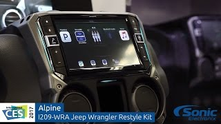 "Alpine I209-WRA 9"" Jeep Wrangler Restyle System   CES 2017"