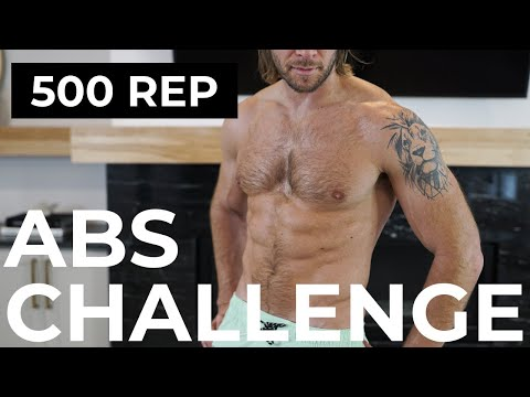 SHREDDED ABS CHALLENGE (500 REPS) |  500 REP ABS WORKOUT CHALLENGE
