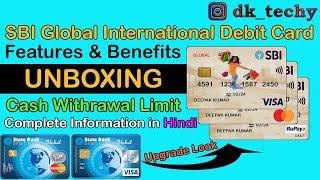 UNBOXING SBI Global International Debit Card 2021 | Feature & Benefits | First Look | SBI Debit Card
