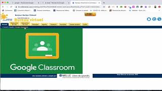 Élèves (1/4): Se connecter à Google Classroom