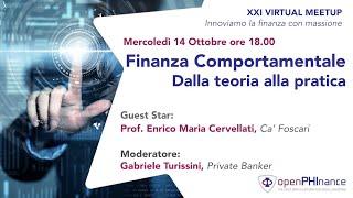 XXI Virtual Meetup - Finanza Comportamentale
