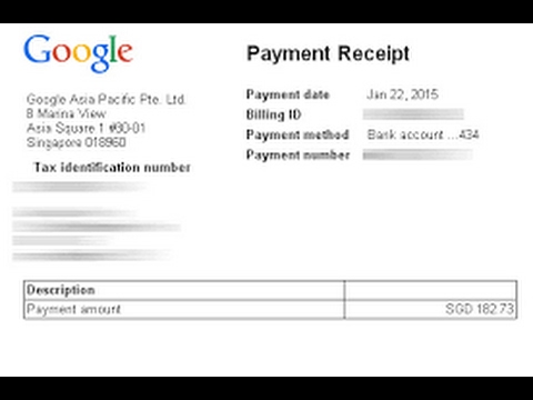 How to get Payment Receipt of google adsense 2017 - YouTube - payment receipt