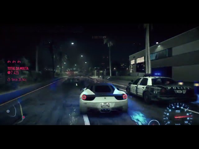 Need for speed - brincando com a policia - ferrari 458 italia