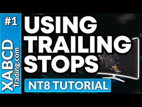 Using Trailing Stops in NinjaTrader 8 Tutorial
