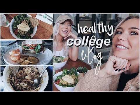 College Vlog | Plant Based Healthy Meals + Make $$$ Selling Clothes