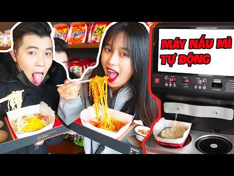 Mei Khoai Tây Lần Đầu Thử Máy Nấu Mì Tự Động Với Hùng Hống Hách!!