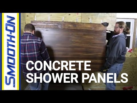Casting GFRC Concrete to Create Textured Shower Panels
