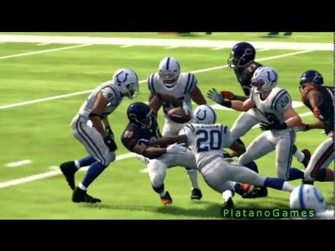 NFL 2012 Season Week 1 - Indianapolis Colts vs Chicago Bears - 1st Half - Madden NFL