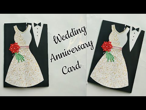 DIY Wedding Anniversary Card/Wedding Congratulation Card/Handmade Greeting Card for Anniversary