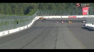 [HD] Fatal crash for Justin Wilson in indycar (RIP) - Pocono Speedway 2015