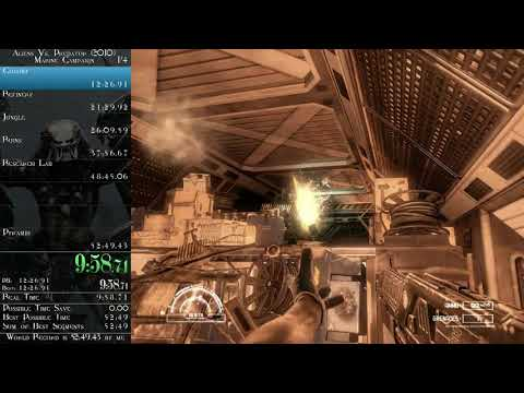 AvP (2010) - Marine Campaign speedrun in 0:51:29 (time without loads) - World Record
