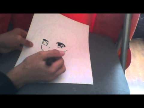 Comment dessiner un tete de manga fille youtube - Comment dessiner des manga fille ...