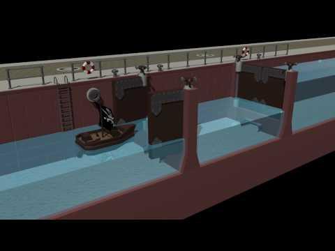 Funktionsweise einer Schleuse - 3D Animation 720p HD