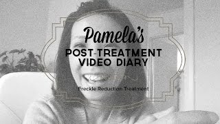 Pamela post Gemini laser diary for treatment of freckles Thumbnail