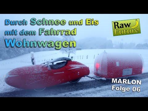 Mit dem Fahrradcamper durch den Schnee! ????Rutschende Reifen und klirrende Kälte! (MARLON Folge 06)