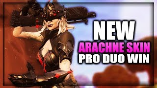 DUO WIN With NEW ARACHNE SKIN! Pro Duos In Fortnite Battle Royale