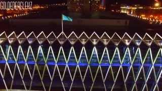 Ночная съемка с высоты птичьего полета. Астана. Astana. Kazakhstan.