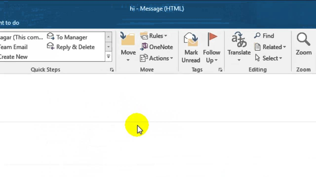 How to recall mail in Outlook - YouTube