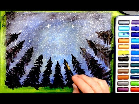 Relaxing Watercolor Painting - ASMR